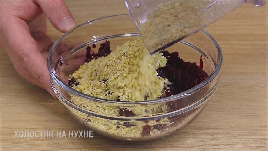 добавление орехов в салат