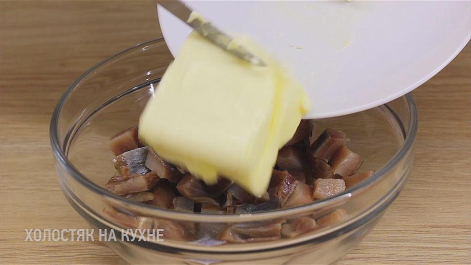 добавление масла к селедке